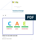 WHAT IS CAE AND CAE USE - Technical Design