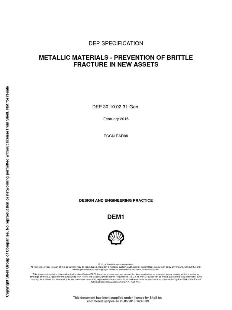Shell Dep 2 Boiling Strength Of Materials
