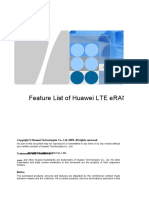 eNodeB LTE FDD Feature List