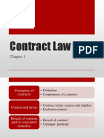 Business Law - week 2 - Contract law 1