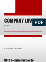 Business Law - week 7 - Company law 1