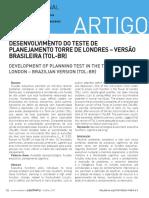 DESENVOLVIMENTO DO TESTE DE TOL