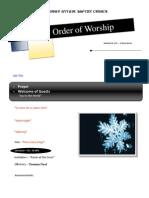 Order of Worship 12 26 2010 v1