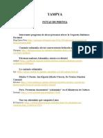 Notas de Prensa Tampya