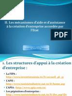 Les mécanismes d'aide et d'assistance à la création d'entreprise
