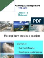 Coastal Planning Management-Lesson3-Metocean