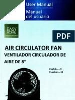 Air Circulation Fan 8''; ALDI BN-8U8