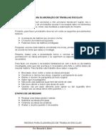 REGRAS PARA ELABORAÇÃO DE TRABALHO ESCOLAR.docx