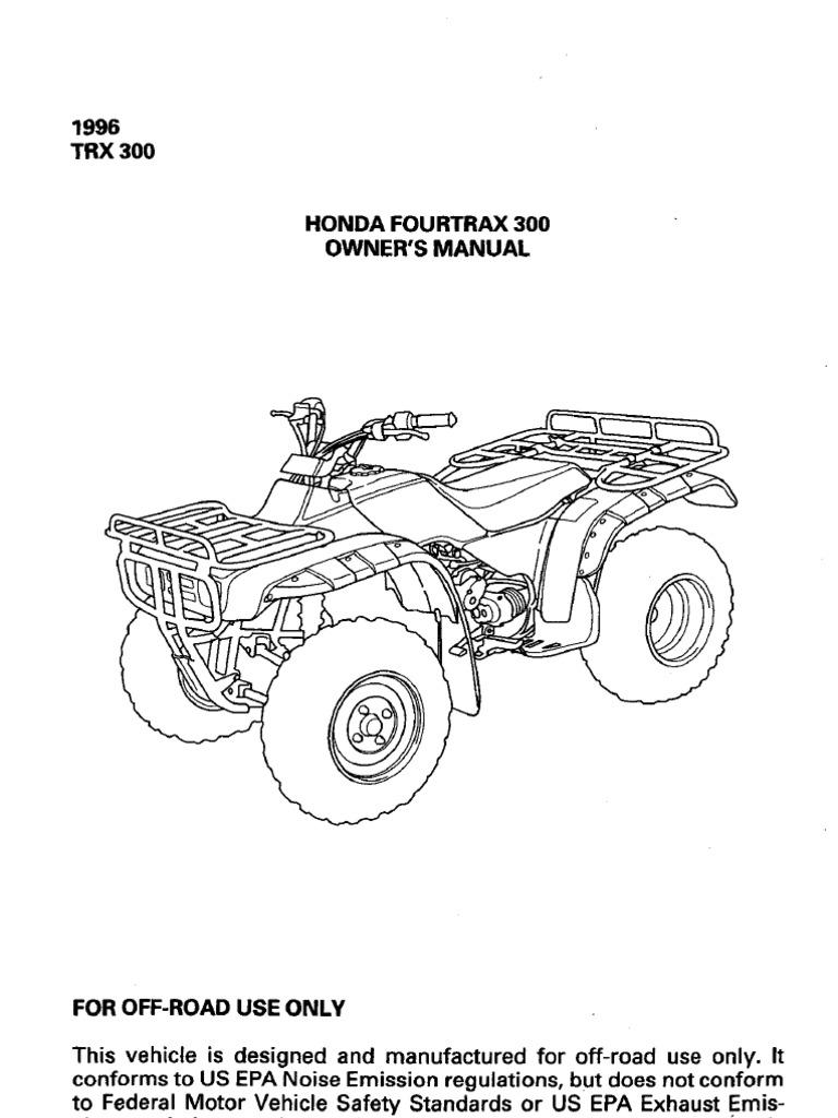 Honda trx 300 fourtrax 300 trx300fw fourtrax 4×4 1988-2000 clymer.