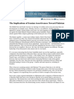The Implications of Iranian Assertiveness Toward Pakistan