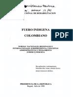 Fuero indigena Colombia -Roldán