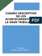 CUADRO DESCRIPTIVO DE LOS ACONTECIMIENTOS DE LA GRAN TRIBULACIÓN