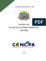 Modelo de Plano de Governo Municipal - 2020