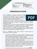 Communiqué presse Pharmakina
