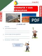 LA GEOGRAFIA Y SUS PRINCIPIOS - 6TO PRIM
