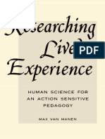 (SUNY Series in Philosophy of Education) Max van Manen - Researching Lived Experience_ Human Science for an Action Sensitive Pedagogy-State University of New York Press (1990).pdf