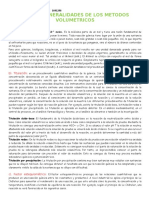 TALLER  GENERALIDADES DE LOS METODOS VOLUMETRICOS