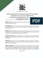 Uganda Parliament Motion on Cities
