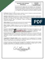 SGI-D-04 Politica de Gestion Integral