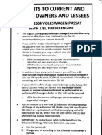 VW Oil Sludge Settlement Documents – 2010-12-24
