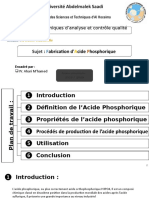 fabrication  d'acide phosphorique