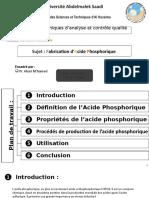 fabrication  d'acide phosphorique