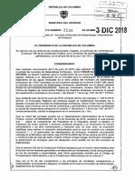 DECRETO 2238 DEL 03 DE DICIEMBRE DE 2018