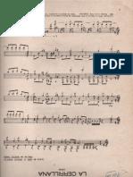 Partituras viejas para guitarra clásica de Argentina