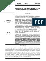 N-2801 - Inspeção de sistemas de proteção catódica de dutos terrestres (Dez 2005)
