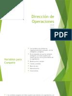 Dirección de Operaciones unidad 1 tema 1.1