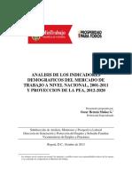 Análisis de indicadores demográficos y proyecciones de población activa. Autor-Oscar Hernan Muñoz G.