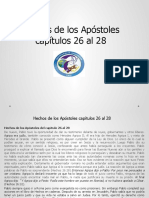 Hechos de los Apóstoles capítulos 26 al 28