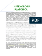 EPISTAMOLOGIA PLATONICA TEORIA DEL CONOCIMEINTO