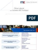 Clima Laboral 2017 Informe Punitaqui