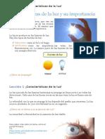 Lección 1 Caractersticas de la luz
