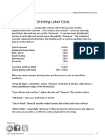 Grinding Labor Costs