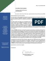 Carta al MINJUS sobre situación de infectados por Covid-19 en los penales