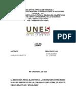 nixon LA EDUCACIÓN FÍSICA