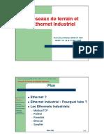 Réseaux de Terrain Et Ethernet Industriel