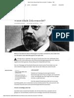 FAZ - Mord These - Wurde Emile Zola ermordet - Feuilleton - FAZ