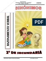 RAZONAMIENTO VERBAL -2° SECUNDARIA
