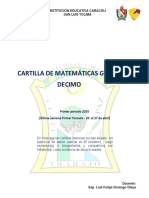 MATEMATICA 10° 1P