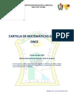 MATEMATICA 11° 1P
