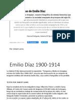 Fotografo Emilio Díaz 1900-1914