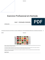 Formação profissional nutrição - Aula 1