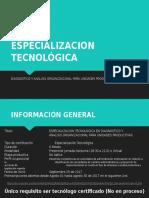 ESPECIALIZACION TECNOLÓGICA INFORMACION - COORD. ASISTENCIA