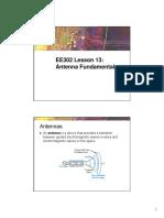 EE302 Lesson 13 Antenna Fundamentals.pdf