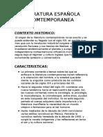 LITERATURA ESPAÑOLA COMTEMPORANEA