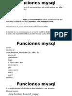 Funciones mysql