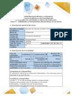 Guía de actividades y rúbrica de evaluación - Tarea 3 - Habilidades y herramientas del psicólogo para el abordaje en grupos étnicos